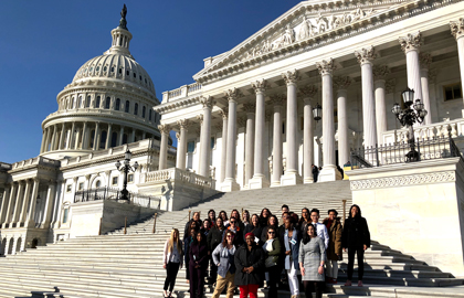 Social Work HEALS Scholars At Capitol Building 2019