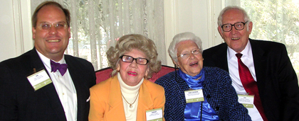 Bob Arnold, Ken and Margery Carpenter and Mary Holden at 2006 Pioneer event