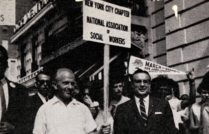 Former NASW President 1963-1965 Kurt Reichert Marches In New York - From NASW Archives