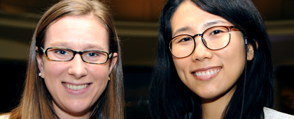 Social Work HEALS Scholars Elizabeth Matthews and Eun-Hye Yi At 2018 NASW National Conference